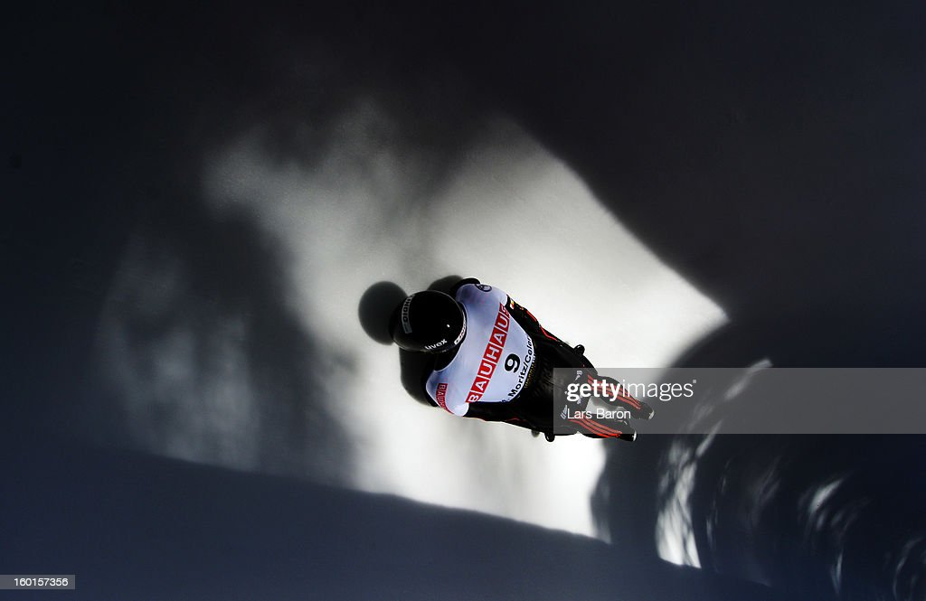 Frank Rommel of Germany competes during the team competition of the IBSF Bob & Skeleton World Championship at Olympia Bob Run on January 27, 2013 in St Moritz, Switzerland.