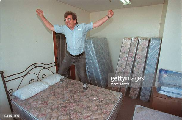 Frank rovitothe owner jumps for mattress joyGino guitieri puts together bed frames andFrancesco Mesianothere for the summer makes box springAngelo...