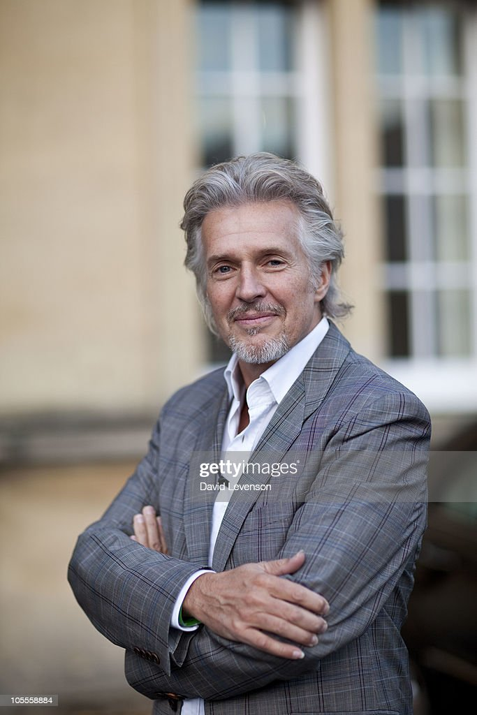 Frank Schatzing , author, poses for a portrait at the Cheltenham Literature Festival on October 16, 2010 in Cheltenham, England.
