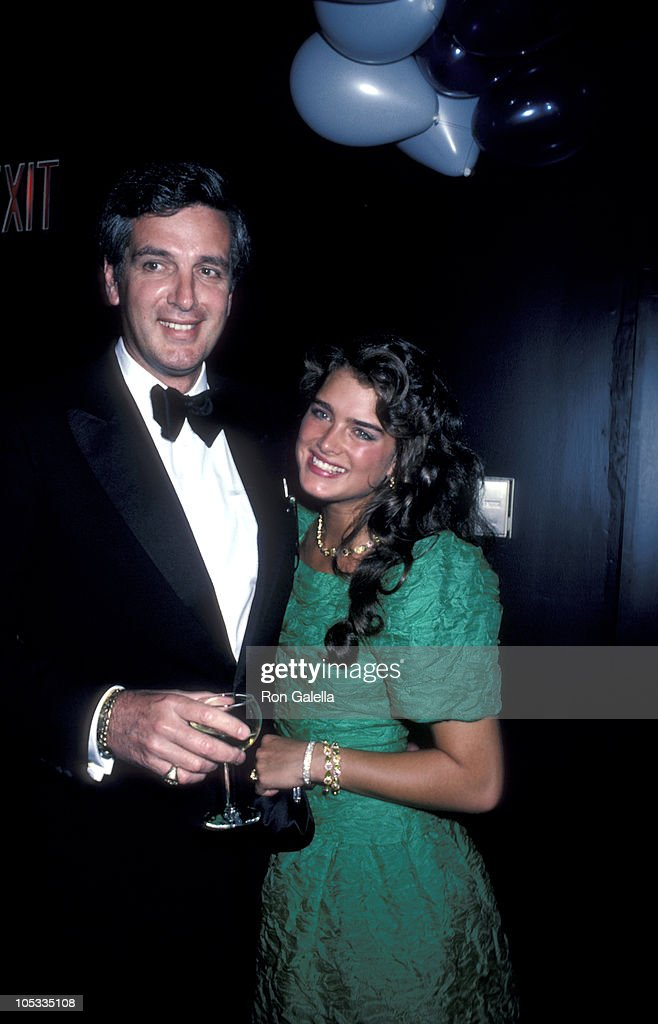 Frank Shields and Brooke Shields during Brooke Shield's 21st Birthday Party - May 31, 1986 at Nishi Naho in New York City, New York, United States.