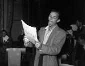 Frank Sinatra American singer and film actor rehearsing in London for a London Palladium Concert Original Publication People Disc HM0163