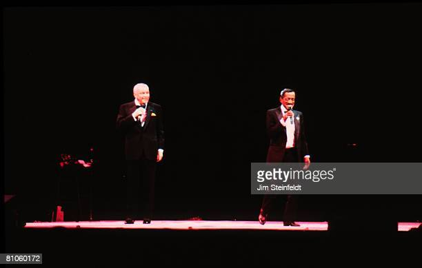Frank Sinatra and Sammy Davis Jr perform with the Rat Pack in Minneapolis Minnesota in 1994