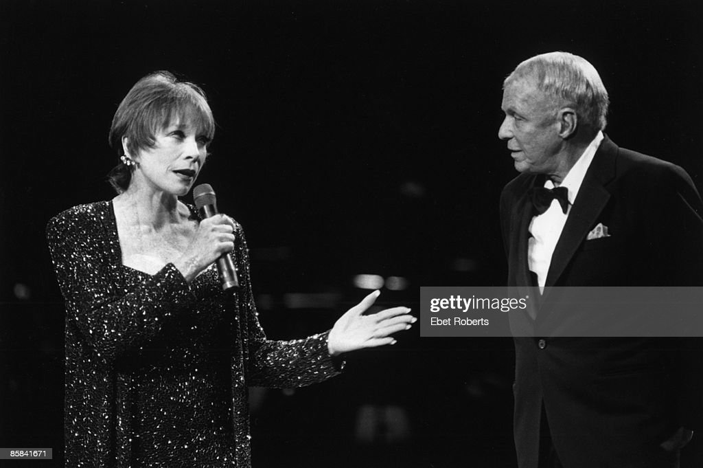 HALL Photo of Frank SINATRA and Shirley MacLAINE, <a gi-track='captionPersonalityLinkClicked' href=/galleries/search?phrase=Shirley+MacLaine&family=editorial&specificpeople=204788 ng-click='$event.stopPropagation()'>Shirley MacLaine</a> and Frank Sinatra performing on stage
