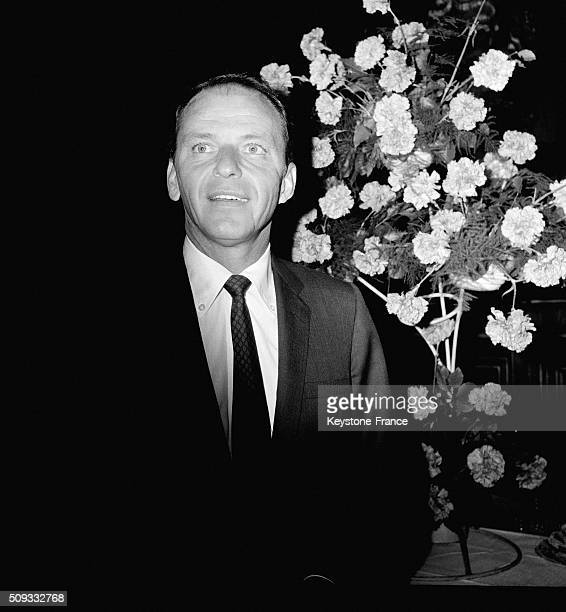 Frank Sinatra At Paris City Hall To Receive The Golden Medal Of The Ville De Paris in Paris France on June 5 1962