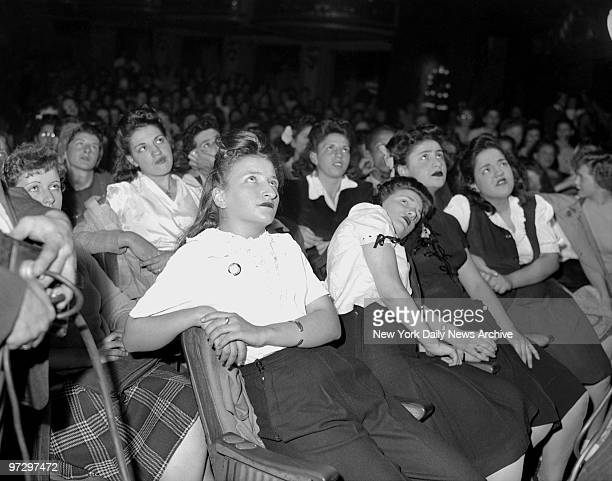 Frank Sinatra fans at the Paramount Theater
