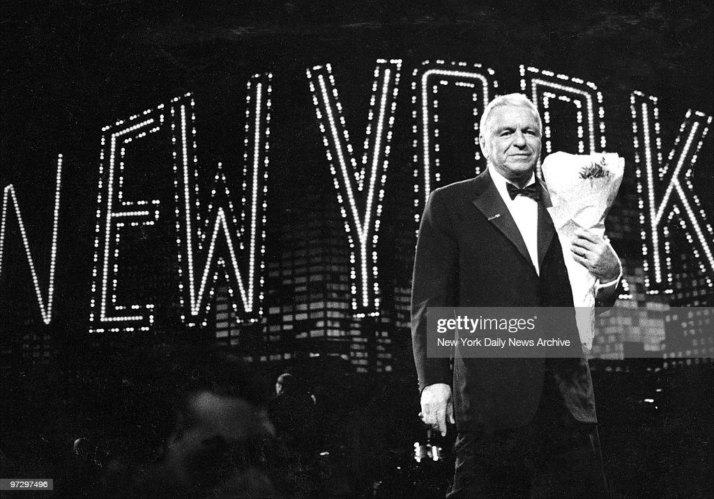Frank Sinatra in concert at Radio City Music Hall.