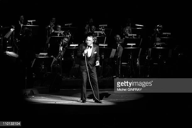 Frank Sinatra performs at Palais des Congres in Paris France on May 1975