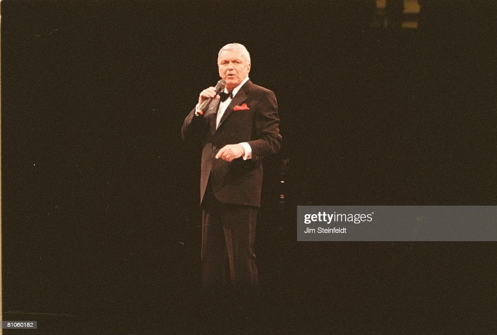 Frank Sinatra performs at the Met Center in Bloomington, Minnesota on January 24, 1992.