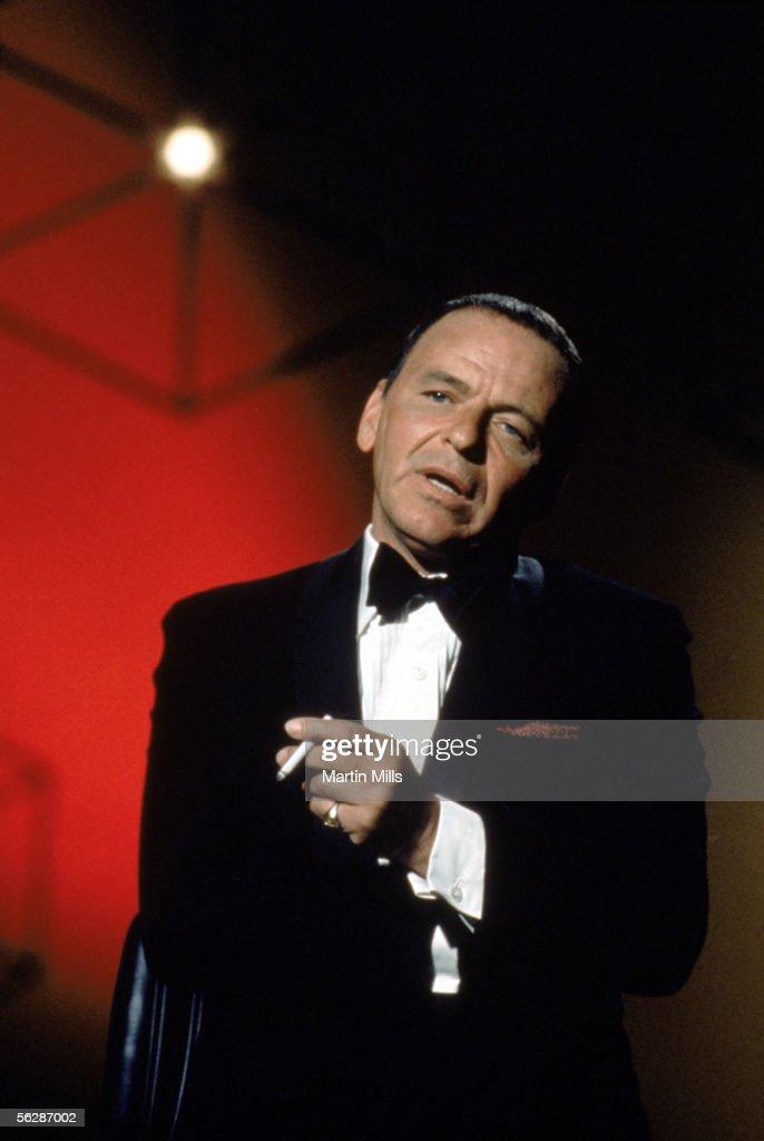 Frank Sinatra performs circa late 1960's.