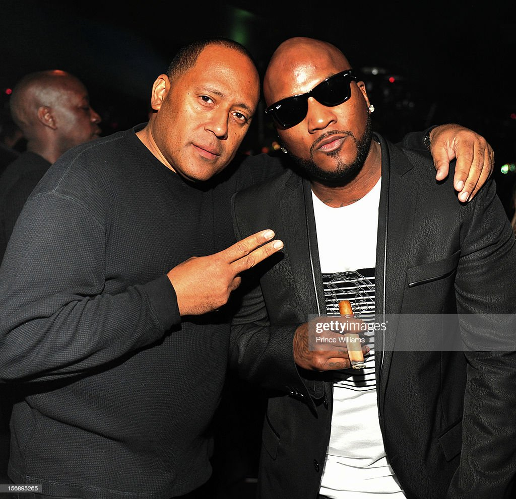 Frank Ski and <a gi-track='captionPersonalityLinkClicked' href=/galleries/search?phrase=Young+Jeezy&family=editorial&specificpeople=537540 ng-click='$event.stopPropagation()'>Young Jeezy</a> attend party hosted by LaLa at Reign Nightclub on November 23, 2012 in Atlanta, Georgia.