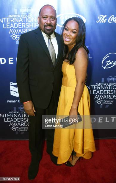 Frank Ski walks the red carpet at The 2017 Andrew Young International Leadership Awards and 85th Birthday Tribute at Philips Arena on June 3 2017 in...