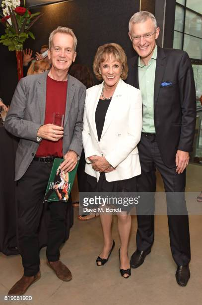 Frank Skinner Esther Rantzen and Jeremy Vine attend the press night performance of 'Tanguera' at Sadler's Wells Theatre on July 20 2017 in London...