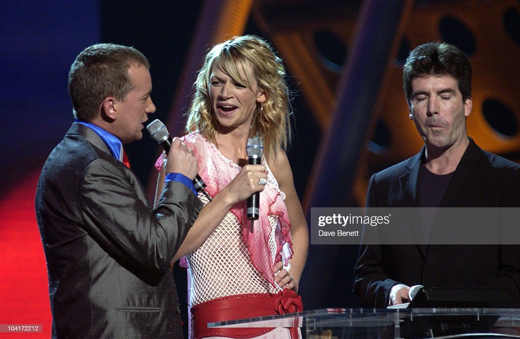 Frank Skinner, Zoe Ball & Simon Cowell, The Brit Awards 2002 Held At Earl's Court In London.