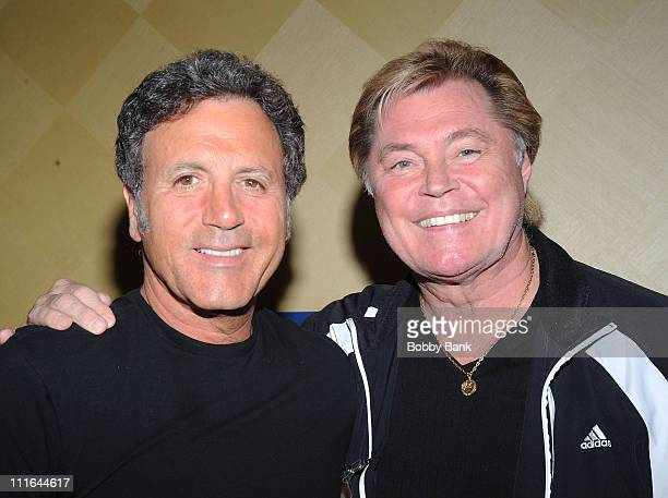 Frank Stallone and Dennis Cole attend the 2009 Chiller Theatre Expo at the Hilton on April 17 2009 in Parsippany New Jersey