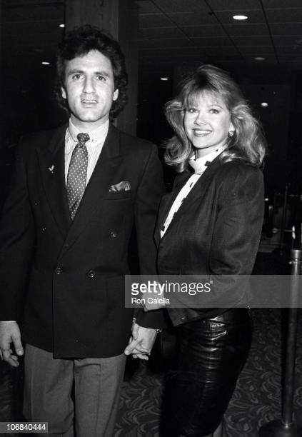 Frank Stallone and Nancy Mulford during Frank Stallone and Nancy Mulford Sighting at the Century Plaza Hotel in Los Angeles February 21 1986 at...