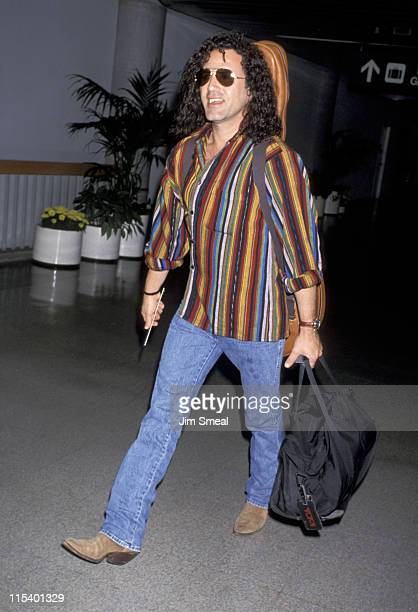 Frank Stallone during Frank Stallone Departing to New York City March 22 1994 at Los Angeles International Airport in Los Angeles California United...