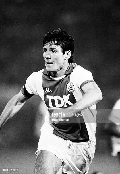 Frank Stapleton of Ajax Amsterdam in action against FC Porto during the Amsterdam Tournament on 9th August 1987 The match ended in a 11 draw