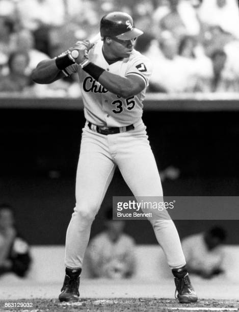 Frank Thomas of the Chicago White Sox bats during an MLB game circa 1995