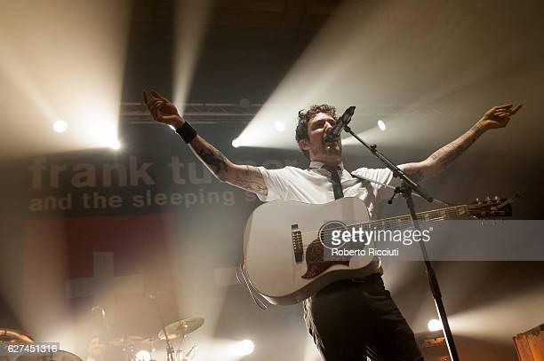 Frank Turner and The Sleeping Souls perform at Usher Hall on December 3 2016 in Edinburgh Scotland