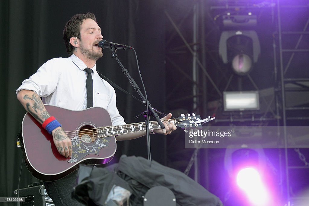 Frank Turner of Frank Turner And The Sleeping Souls performs at Day 3 of Pinkpop Festival at Megaland on June 12 2015 in Landgraaf Netherlands