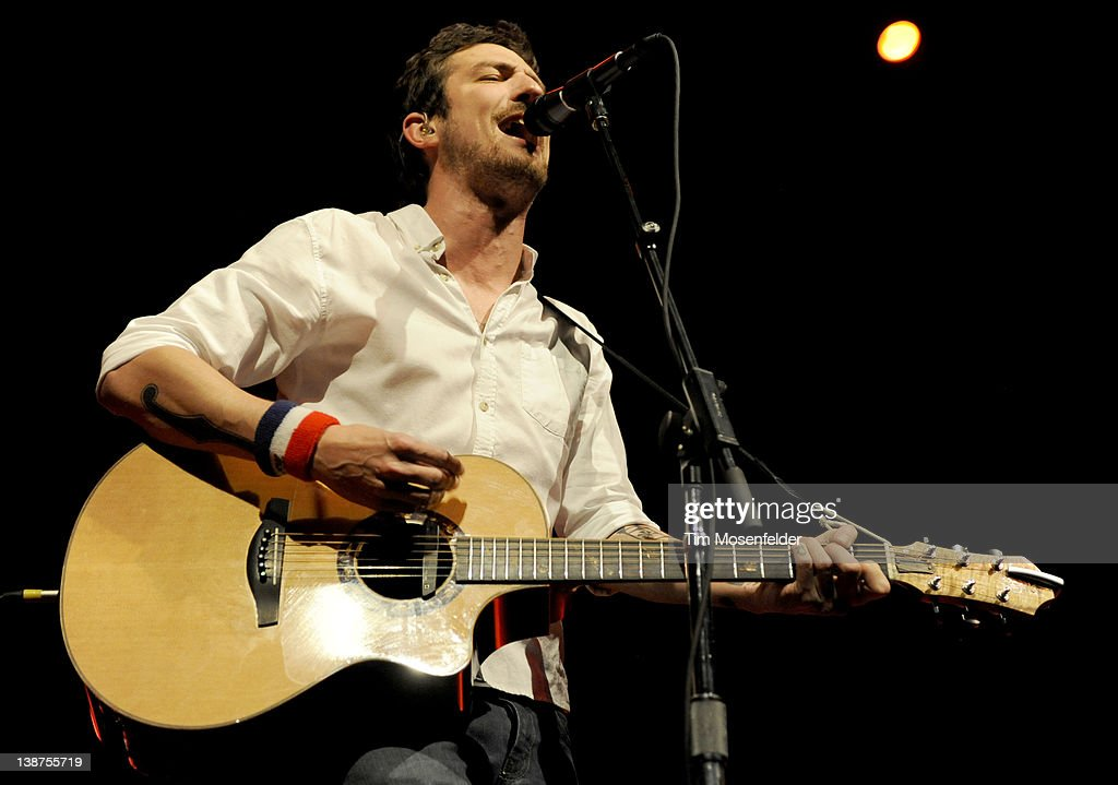 Frank Turner of Frank Turner and the Sleeping Souls performs in support of the bands' England Keep My Bones release at the Fox Theater on February 10...