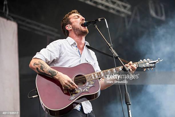 Frank Turner of Frank Turner and The Sleeping Souls performs on stage at Sonisphere at Knebworth Park on July 5 2014 in Knebworth United Kingdom