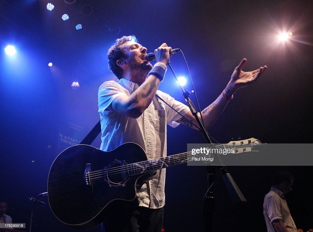 Frank Turner of Frank Turner the Sleeping Souls performs during Bud Light Music First 50/50/1 on August 1 2013 in Silver Spring Maryland