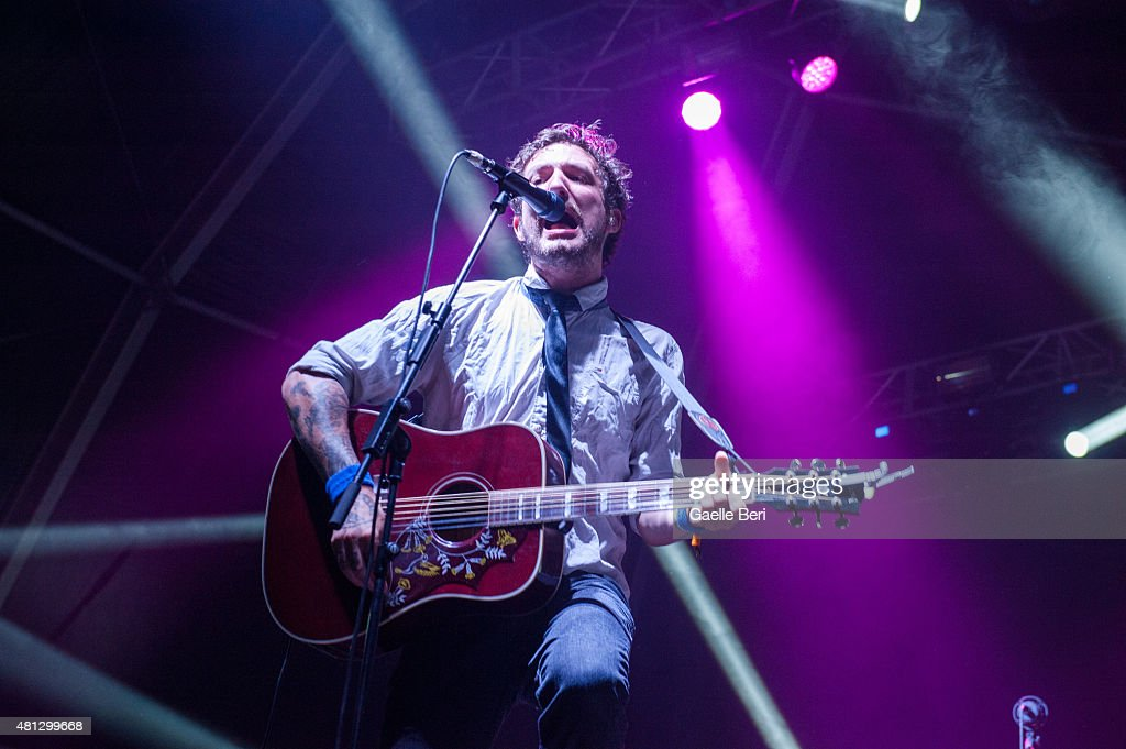 Frank Turner of Frank Turner The Sleeping Souls performs live at FIB Benicassim Festival on July 18 2015 in Benicassim Spain