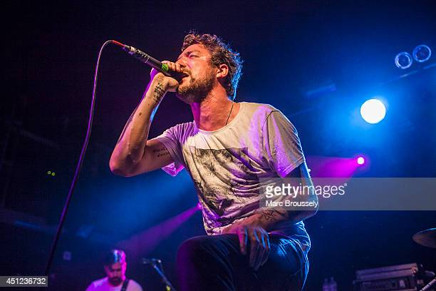 Frank Turner of Mongol Horde performs on stage at The Garage on June 25 2014 in London United Kingdom