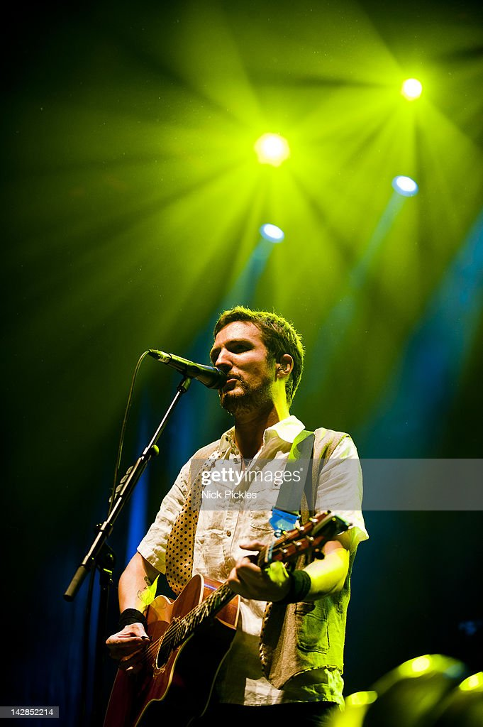 Frank Turner performs at Wembley Arena on April 13 2012 in London England