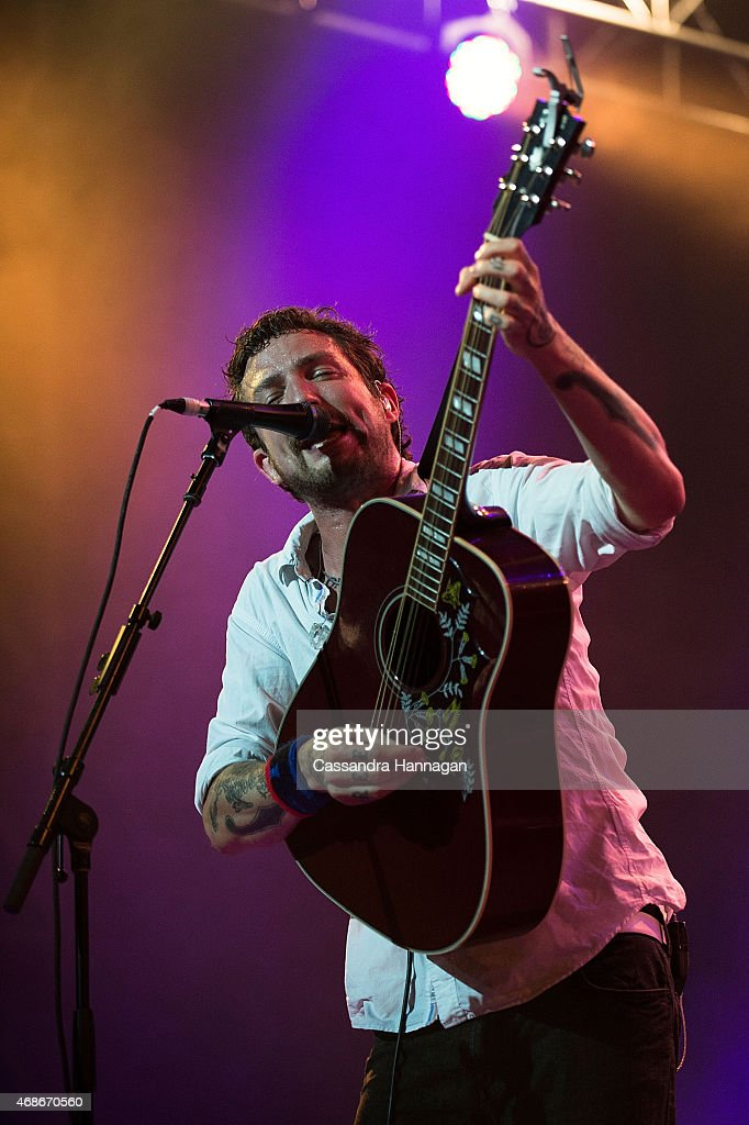Frank Turner performs live for fans at the 2015 Byron Bay Bluesfest on April 5 2015 in Byron Bay Australia