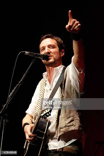 Frank Turner performs live on stage at Wembley Arena on April 13 2012 in London United Kingdom