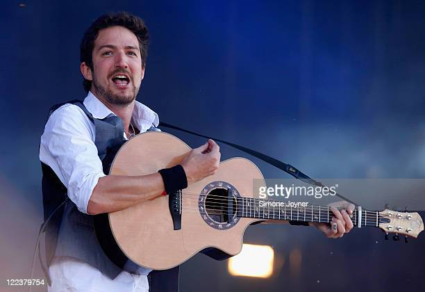 Frank Turner performs live on the Main Stage during day three of Reading Festival 2011 on August 28 2011 in Reading England