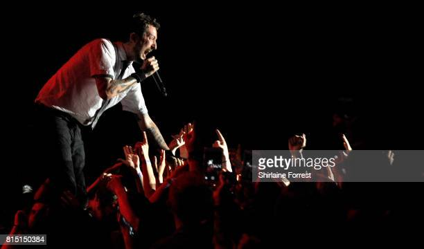 Frank Turner performs live supporting Blink 182 at Liverpool Echo Arena on July 15 2017 in Liverpool England