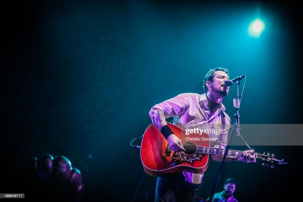Frank Turner performs on stage at O2 Arena on February 12 2014 in London United Kingdom