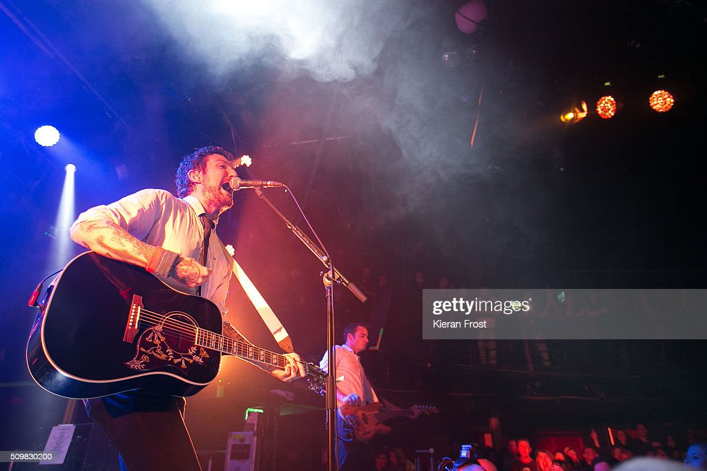 Frank Turner performs with Frank Turner And The Sleeping Souls at The Academy on February 12 2016 in Dublin Ireland