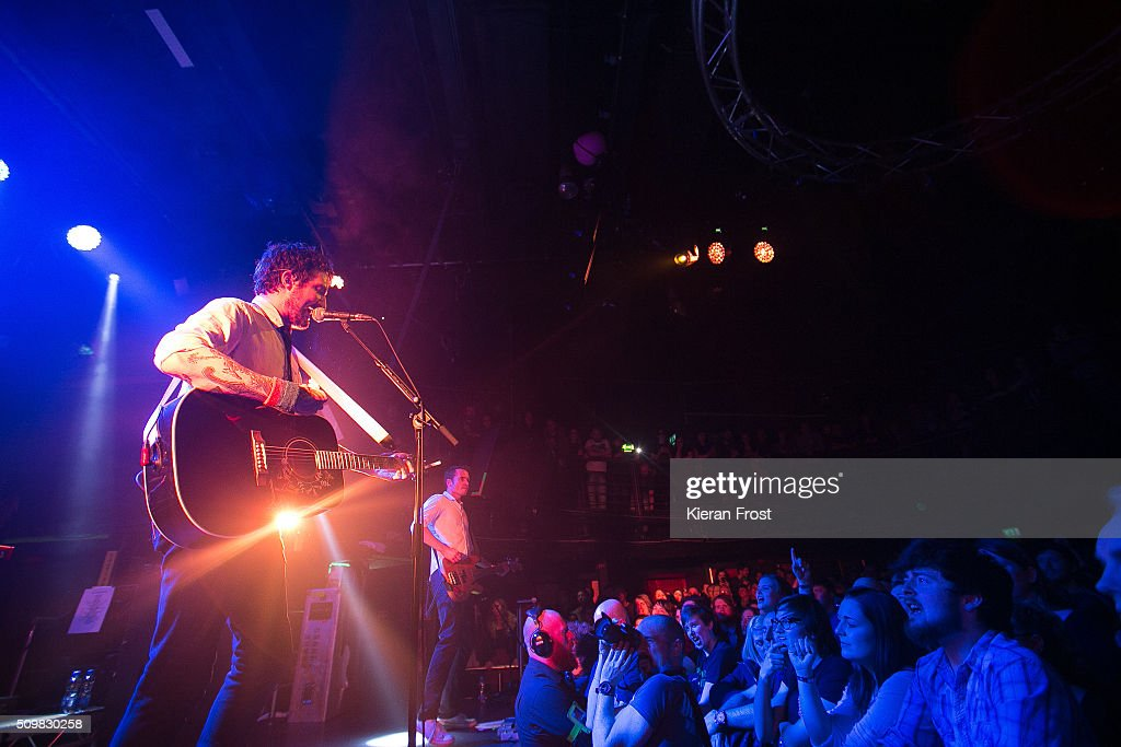 Frank Turner performs with Frank Turner And The Sleeping Souls at The Academy on February 12, 2016 in Dublin, Ireland.