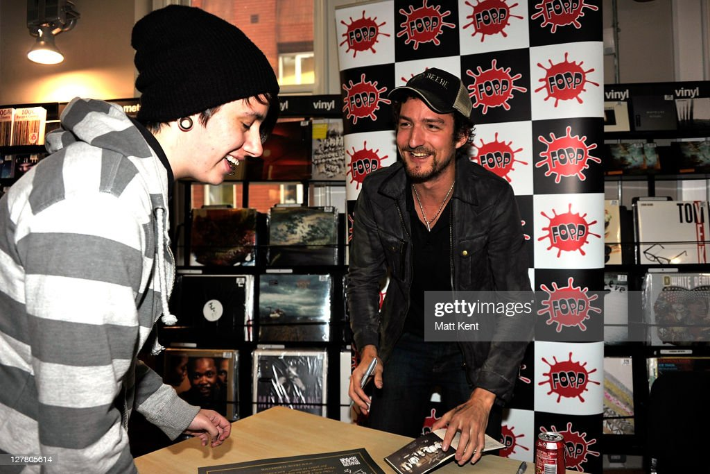Frank Turner promotes his new album England Keep My Bones at Fopp London on June 6 2011 in London England