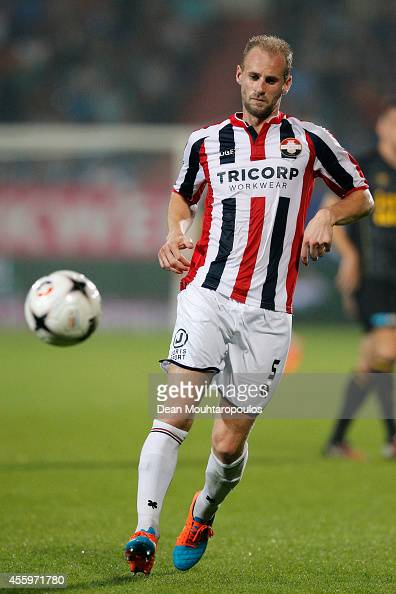 Frank van der Struijk of Willem II in action during the Dutch Eredivisie match between Willem II Tilburg and NAC Breda at Koning Willem II Stadium on...