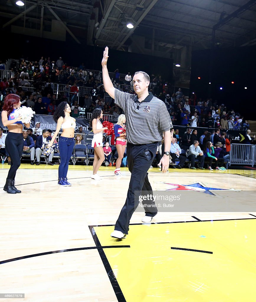 Frank Vogel, head coach of the Eastern Conference All-Stars is introduced during NBA All-Star Practice at Sprint Arena as part of 2014 NBA All-Star Weekend at the Ernest N. Morial Convention Center on February 15, 2014 in New Orleans, Louisiana.