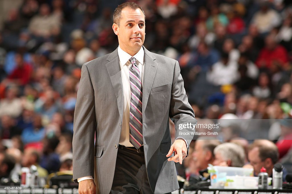 Frank Vogel, Head Coach of the Indiana Pacers during the game against the Charlotte Bobcats at the Time Warner Cable Arena on November 27, 2013 in Charlotte, North Carolina.