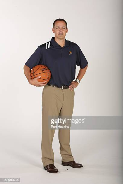 Frank Vogel head coach of the Indiana Pacers poses for a picture during media day at Bankers Life Fieldhouse on September 27 2013 in Indianapolis...
