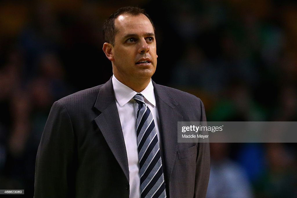 Frank Vogel of the Indiana Pacers during the first quarter at TD Garden on April 1, 2015 in Boston, Massachusetts.