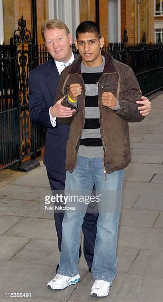 Frank Warren and Amir Khan Amir Khan will face Cuban Mario Kindelan on April 30 2005 at Bolton's Reebok Stadium Khan is expected to turn professional...