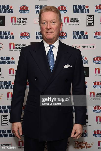 Frank Warren attends the Nordoff Robbins Boxing Dinner at the London Hilton Park Lane on October 24 2016 in London England