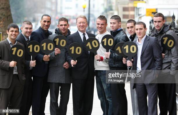 Frank Warren with Stephen Smih Liam Smith James DeGale MBE Billy Joe Saunders Frankie Gavin Ronnie Heffron Liam Walsh Thomas Costello and Ryan Walsh...