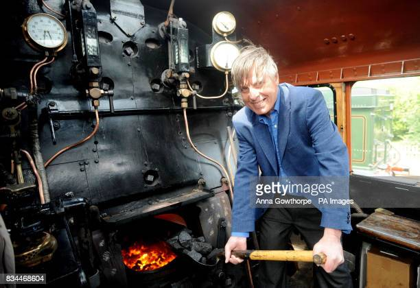 Frank Watson a former footplate worker on the locomotive gets back onto the footplate during a nine day celebration which started today to mark the...
