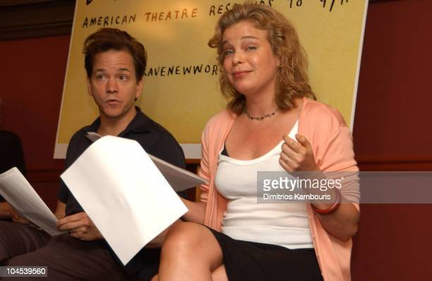 Frank Whaley Catherine Curtin during Brave New World American Theatre Responds to 9/11 Open Rehearsal Presentation at Sardi's in New York City New...