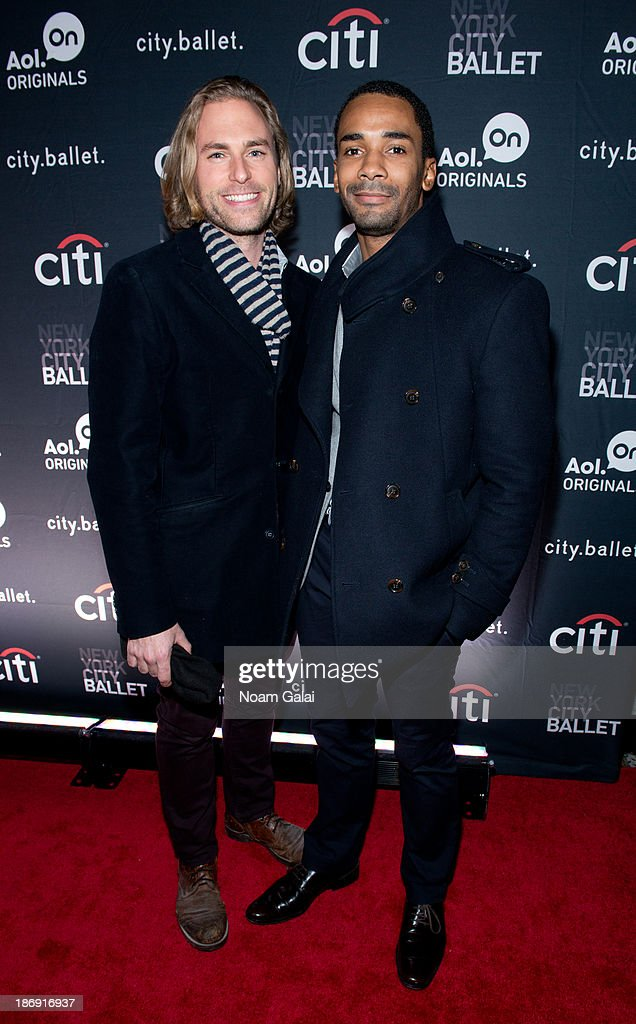 Frank Wilderman and Craig Hall attend AOL On's 'city.ballet' series premiere at Tribeca Cinemas on November 4, 2013 in New York City.