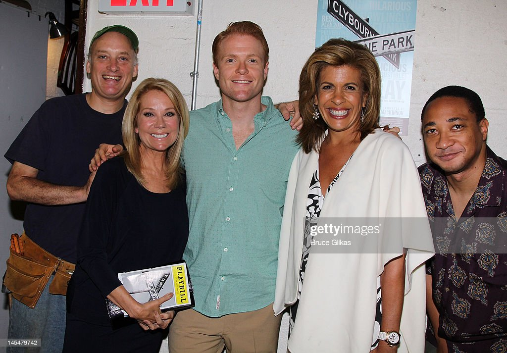 Frank Wood, <a gi-track='captionPersonalityLinkClicked' href=/galleries/search?phrase=Kathie+Lee+Gifford&family=editorial&specificpeople=203269 ng-click='$event.stopPropagation()'>Kathie Lee Gifford</a>, Brendan Griffin, <a gi-track='captionPersonalityLinkClicked' href=/galleries/search?phrase=Hoda+Kotb&family=editorial&specificpeople=2338013 ng-click='$event.stopPropagation()'>Hoda Kotb</a> and Damon Gupton pose backstage at the hit play 'Clybourne Park' on Broadway at The Walter Kerr Theater on May 30, 2012 in New York City.
